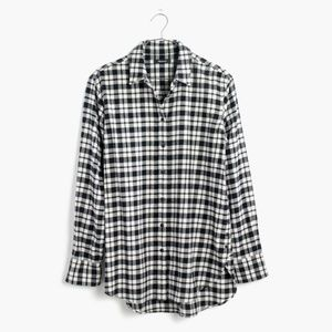 Madewell || Oversized Flannel Side-Button Shirt